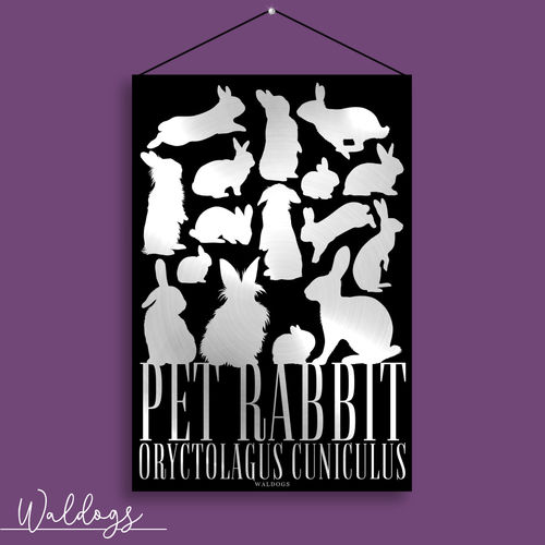 Pet Rabbit Silver 20x30cm